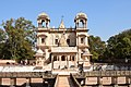 Scindhia family tomb decorated with dome shaped pavilions in marble, called Chhatris.jpg