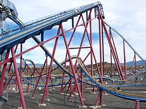 Scream (roller coaster) - Image: Scream lift hill
