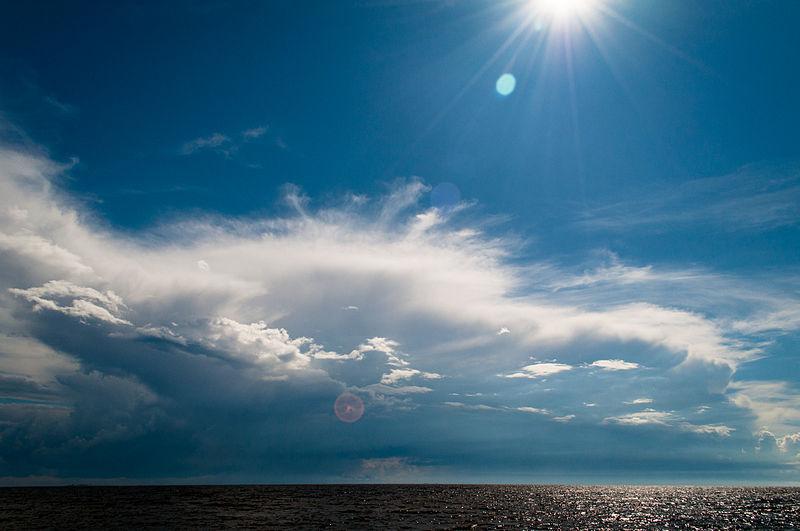 File:Seabord of Gulf of Finland Summer sky Primorskoye shosse, 422, Repino, gorod Sankt-Peterburg, Russia.jpg