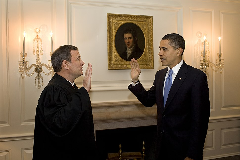 Second oath of office of Barack Obama