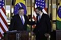 Secretário Pompeo se encontra com ministro das Relações Exteriores do Brasil (45675057645).jpg
