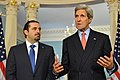 Secretary Kerry Delivers Remarks With Former Lebanese Prime Minister Saad Hariri.jpg