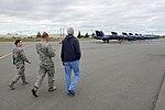 Secretary Kerry Walks Toward F-A-18 Fighter Jets Used by the Blue Angels, the U.S. Navy's Flight Demonstration Team (28504761412).jpg