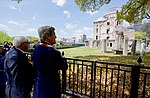 Secretary Kerry and German Foreign Minister Steinmeier Look at the Hiroshima Peace Memorial (26297254301).jpg