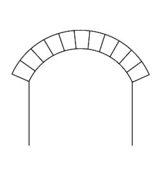 Segmental arch - A segmental arch.
