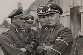 Einsatzkommando - Invasion of Poland, from left: Ludolf von Alvensleben, Erich Spaarmann and Hans Kölzow, Selbstschutz leaders from the Valley of Death in Bydgoszcz (Bromberg)
