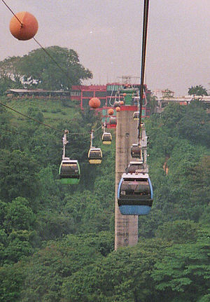 Singapore Cable Car - Going across to Sentosa