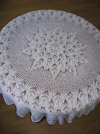 Lace knitting - Lace knitting.