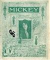 Sheet music cover - MICKEY (1918) (variant 2).jpg