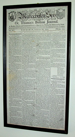 Sheffield Declaration - Sheffield Declaration, as printed in The Massachusetts Spy