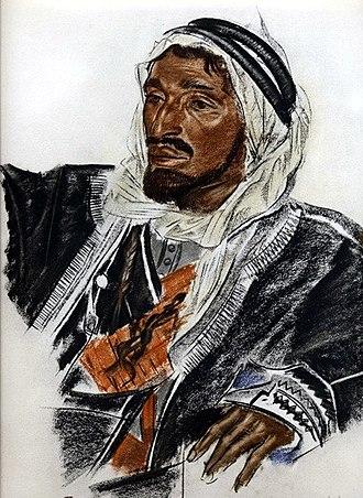 Sheikhdom - Sheikh Sattam de Haddadin of Palmyra, by Alexandr Evgenievich Yacovleff.