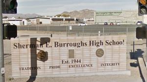 Sherman E. Burroughs High School - Image: Sherman E Burroughs HS Sign