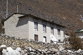 Sherpa people - Traditional Sherpa architecture, but with a steel roof.