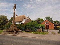 Shillingstone, Gospel Hall and cross - geograph.org.uk - 1318553.jpg