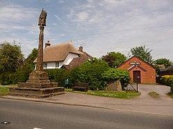 Shillingstone, Gospel Hall and cross - geograph.org.uk - 1318553.jpg