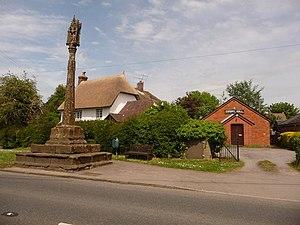 Shillingstone - Image: Shillingstone, Gospel Hall and cross geograph.org.uk 1318553