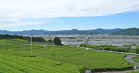 Shimada city from Makinohara Upland.JPG