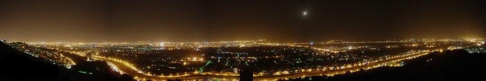 سراسرنمای شیراز در شب