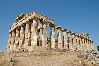 History of Sicily - Greek temple at Selinunte. (Temple dedicated to Hera, built in the 5th century BC.)
