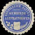 Siegelmarke Gemeinde Altfraunhofen K. Bayern W0382755.jpg