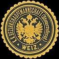 Siegelmarke K.K. Bezirkshauptmannschaft Weiz-Steuerreferat W0320967.jpg