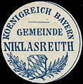 Siegelmarke K. Bayern Gemeinde Niklasreuth W0293226.jpg
