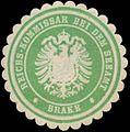 Siegelmarke Reichs-Kommissar bei dem Seeamt Brake W0338477.jpg