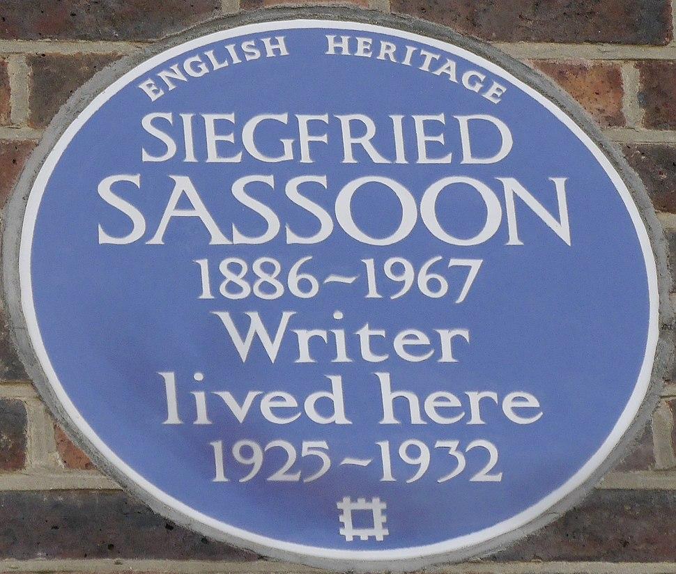Siegfried Sassoon 23 Campden Hill Square blue plaque