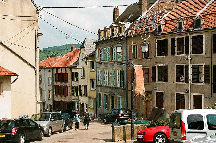 "Sierck-les-Bains, the square ""Place Jeanne d´Arc"""