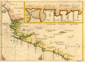 History of Sierra Leone - Map of Sierra Leone from 1732