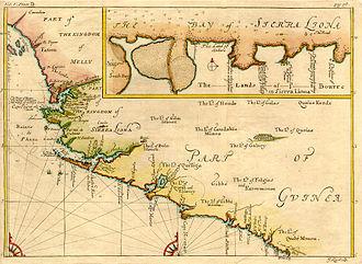 History of Sierra Leone - Map of Sierra Leone from 1732
