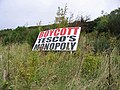 Sign on Blaikie's Hill - geograph.org.uk - 582060.jpg