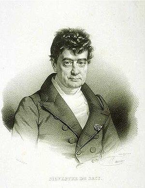Antoine Isaac Silvestre de Sacy - Antoine Isaac, Baron Silvestre de Sacy