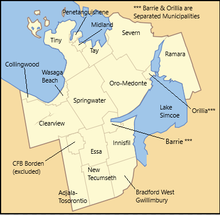 Map Of Simcoe County Ontario Canada Simcoe County   Wikipedia