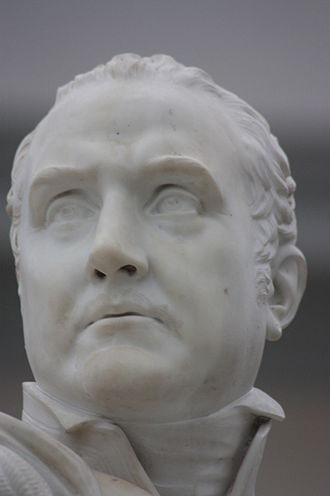 Patrick MacDowell - Sir Edward Pellew by Patrick MacDowell, 1846, Greenwich Maritime Museum, London (close-up)