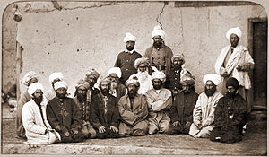 Ghilji - Photograph of a group of Afghan chieftains (Ghilzais) taken at Kabul in Afghanistan by John Burke in 1879–80