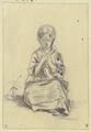 Sitzendes strickendes Mädchen von vorne (SM 3416z).png