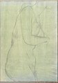 Sketch of a Female Nude Resembling the Medici Venus (Smaller Italian Sketchbook, leaf 20 recto) MET DP269428.jpg
