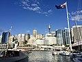 Skyline of Sydney CBD across Cockley Bay, Darling Harbour in 2016, 06.jpg