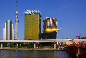 Sumida, Tokyo - Asahi Breweries Headquarters, Tokyo skytree in Sumida