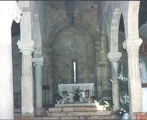 Santa Maria, Uta - The interior of the church.