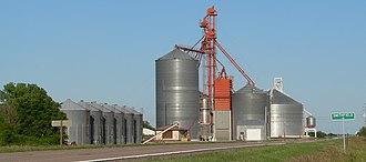 Smithfield, Nebraska - Grain elevators in Smithfield