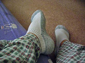 Anklet (sock) - Image: Socks and PJ