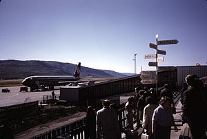 Sondrestrom Air Base - Passenger airplane at Sondrestrom Air Base in August 1974