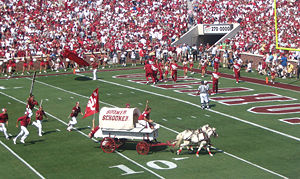RUF/NEKS - The Sooner Schooner being driven by the RUF/NEKS at an OU football game in 2005.