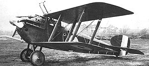 Schräge Musik - Sopwith Dolphin with standard upward-firing gun installation, c. 1918