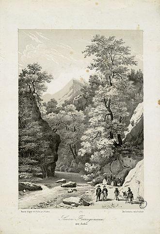 Bagnères-de-Luchon - Ferruginous spring, in Bagnères-de-Luchon, by Joseph Latour