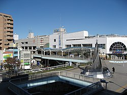 South Entrance of JR Sagamihara Station in 2008.jpg