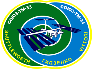 Mark Shuttleworth - Image: Soyuz TM 34 logo