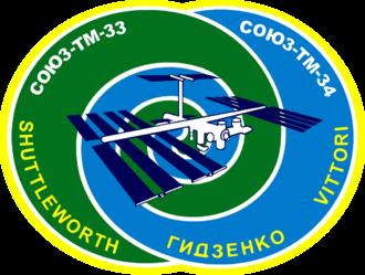 Mark Shuttleworth - Image: Soyuz TM 34 logo